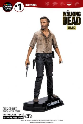"The Walking Dead Rick Grime 7"" Action figure Color Tops Edition"